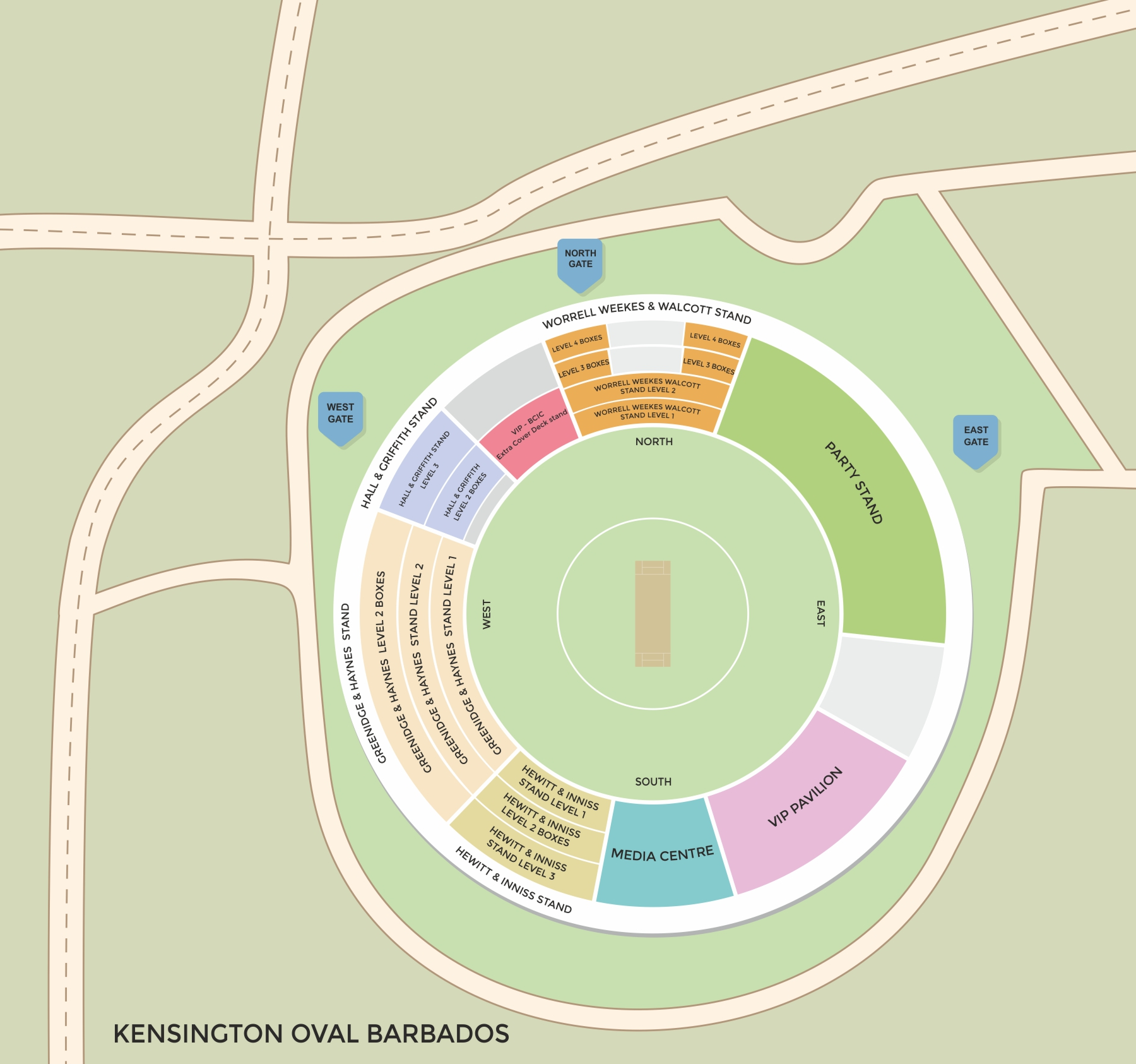 Kensington Oval Barbados Seating Plan Kensington Oval